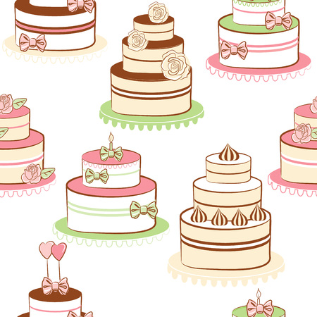 Pies and cakes  Vector