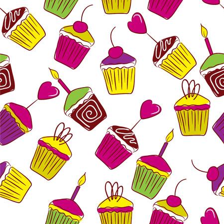 fancy pastry: Vivid cakes  Illustration