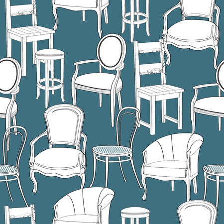 Chairs background  Vector