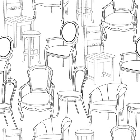 retro furniture: Chairs background