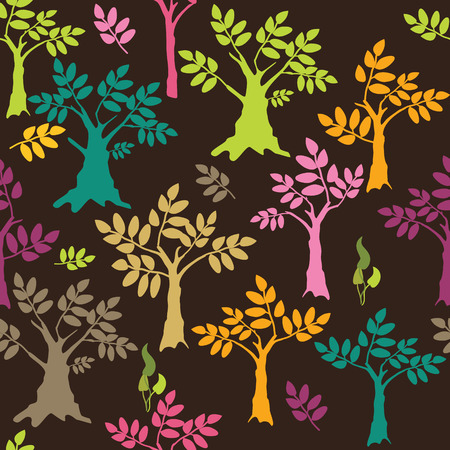Colored trees background  Vector