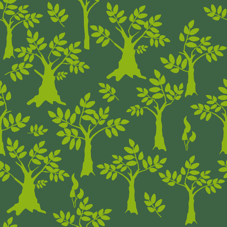 Silhouette trees background  Vector