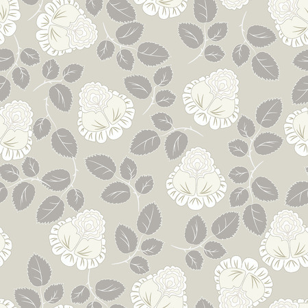 ornamental background: Roses pattern seamless background  Illustration