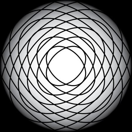 elipse: elipse negro superpuesto en gradiente de fondo negro Vectores