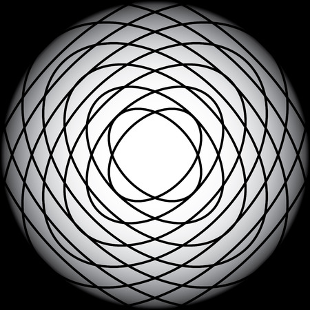 overlapped: overlapped black ellipse in black gradient background