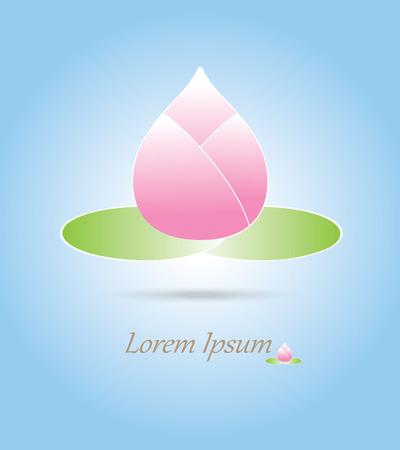 buddha lotus: pink Buddha lotus with blue background