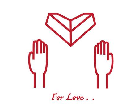 Zwei Hände Geben Ein Herz Aus Papier Zu Anderen Origami Herz