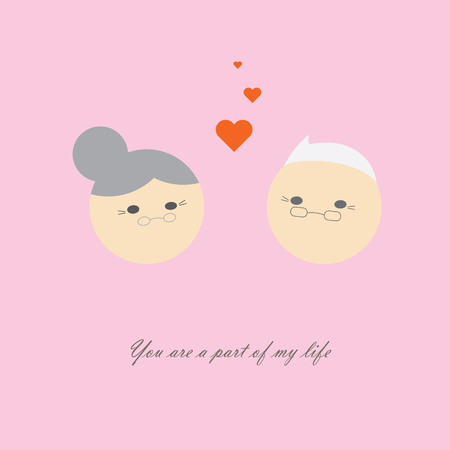 fascinate: Forever love in old age of man and woman, purity love