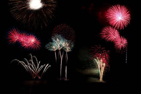 Blooming firework of international firework festival display