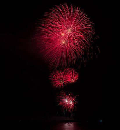 panoply: Blooming firework of international firework festival Stock Photo