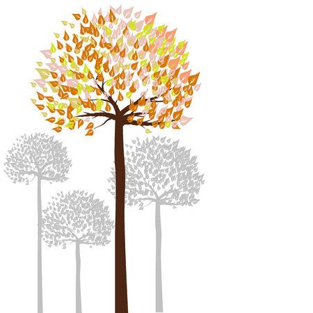 warmth: Warmth color tone of tree