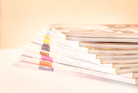 Stacking of magazines , selective focus