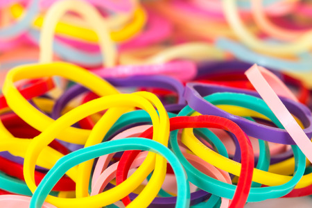 elastic band: mixed color of elastic band background