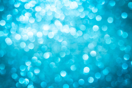 Abstract blure blue bokeh lighting background , marine or cyan cool color tone photo
