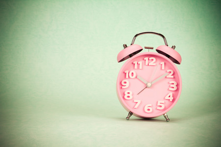 retro and vintage style of Old fashioned the alarm clock
