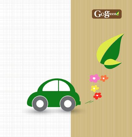 car transportation: ahorrar energ�a y concepto de la tierra con el transporte de coches Vectores