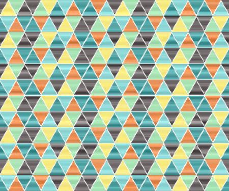 Abstract triangle pattern ,retro color tone