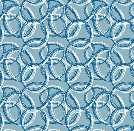 form a circle: Abstract pattern from circle hand drawn form Illustration