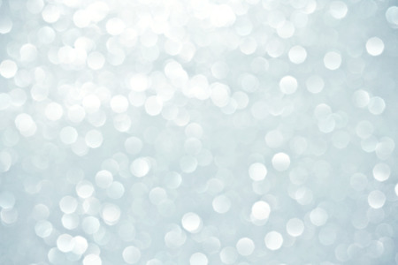 glamour: Abstract bokeh lighting background , silver color tone Stock Photo