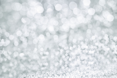 silver background: The Abstract bokeh lighting background , silver color tone Stock Photo