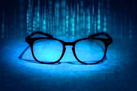 absorb: the reading eyeglasses absorb binary data