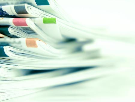 新聞のクローズ アップ スタック