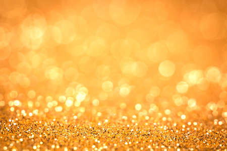 Abstract golden bokeh lighting background Banque d'images