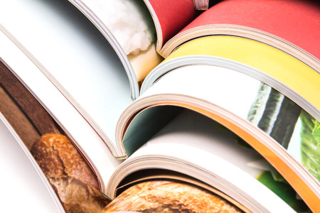 stack of the colorful magazines Imagens