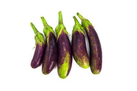 the eggplant on white background