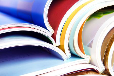 stack of the colorful magazines Foto de archivo