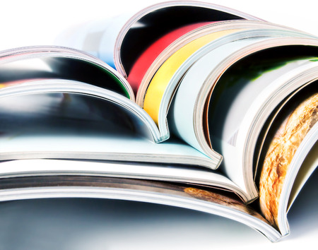 stack of the colorful magazines Standard-Bild