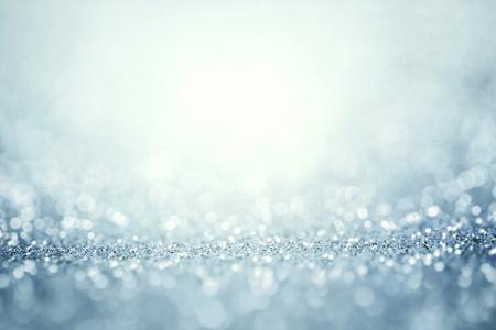 Abstract het zilveren licht voor vakantie achtergrond Stockfoto