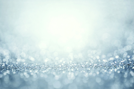 Abstract the silver light for holidays background Stock Photo