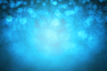 the  Abstract blur blue  bokeh lighting from glitter texture Stock Photo