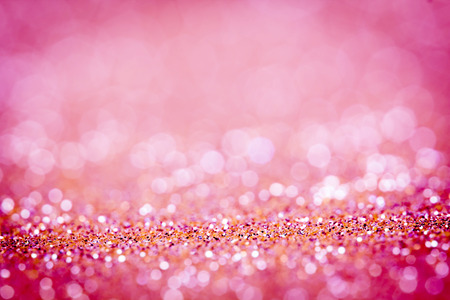 the  Abstract blur pink  bokeh lighting from glitter texture