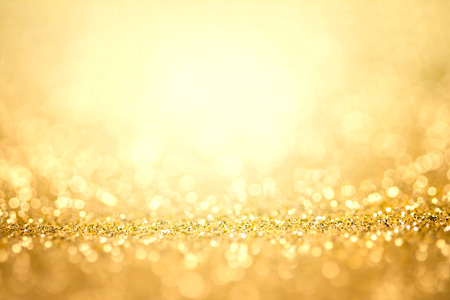 defocused: Abstract the gold light for holidays background Stock Photo
