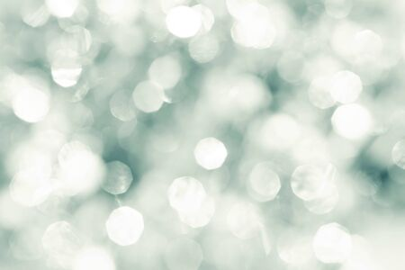 diamond shape: Abstract bokeh lighting background , silver color tone Stock Photo
