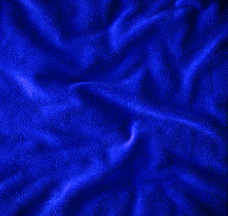 smut: the close up  on Crumpled blue fur fabric texture