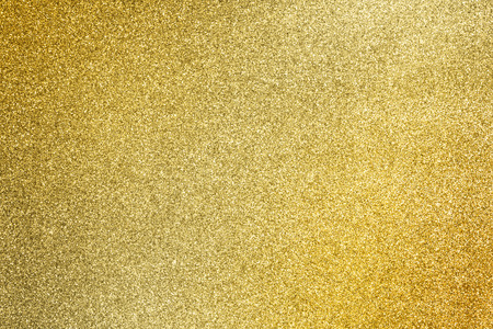close up the golden glitter texture for glamour holiday background Standard-Bild