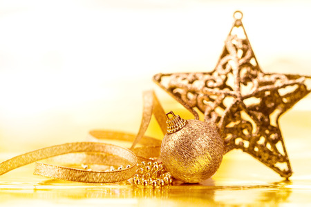 golden ball: the golden christmas ball decorations for celebration background