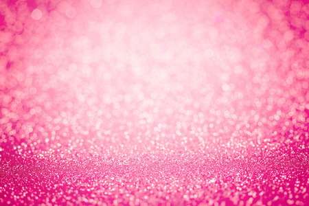the Abstract blur sweet pink bokeh lighting from glitter texture