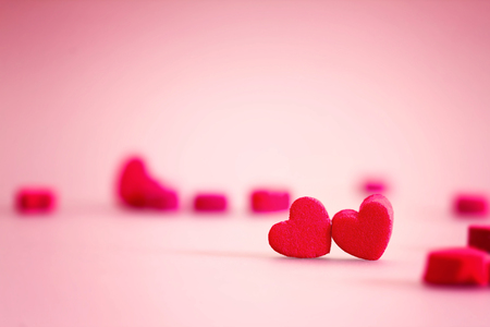 heart shaped: the red Heart shapes in love concept for valentines day with sweet and romantic moment