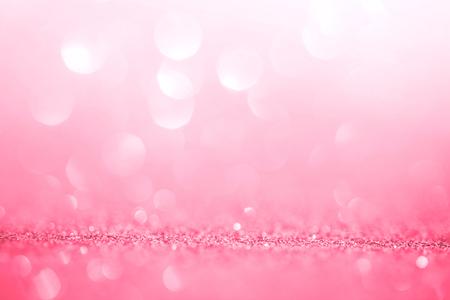 ロマンスの背景とバレンタインデーの抽象的なピンクの光 写真素材 - 52406013