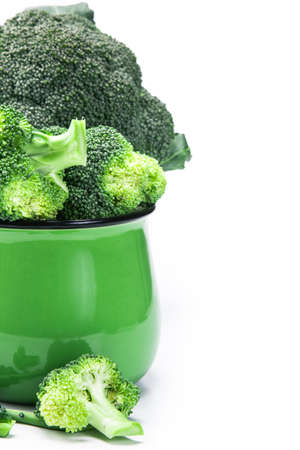 brocoli: The Fresh Broccoli on white background Stock Photo