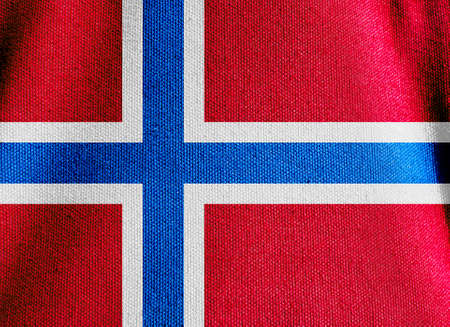 norway flag: The Norway flag canvas fabric texture background