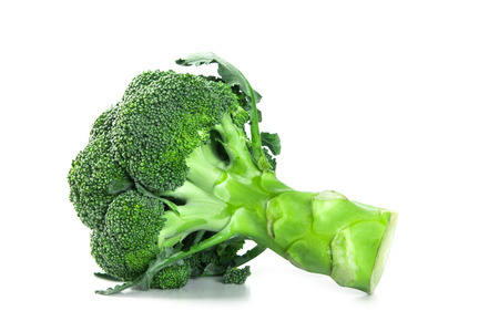 The Fresh Broccoli on white background Stock Photo