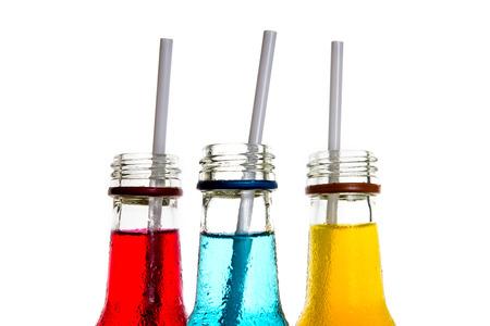 close up  the cool colorful drink Archivio Fotografico