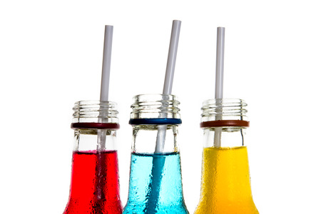 close up  the cool colorful drink Stock Photo