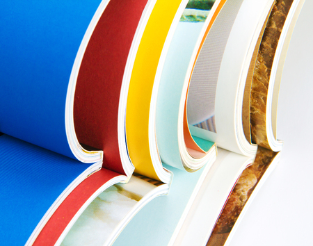 stack of the colorful magazines Stock Photo