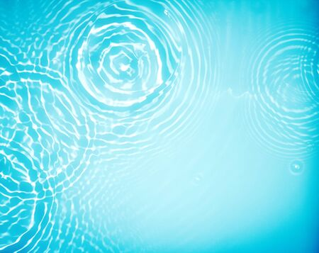 circle water ripple wave suface background Stock Photo